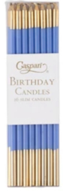 16 birthday candles blue