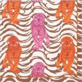 Servet tiger pink