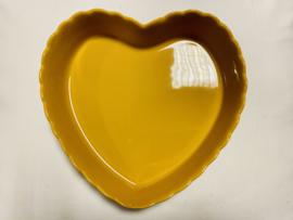 Ovenschaal hart yellow