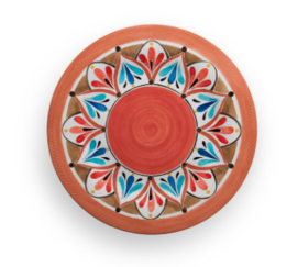 Terracotta plate red