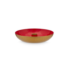 candleholder round red