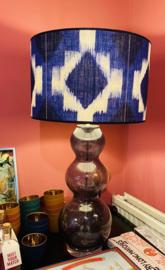 Lamp ikat blauw