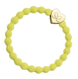 armband/haarelastiekje yellow