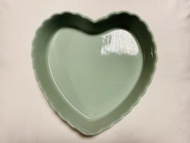 Ovenschaal hart sea green