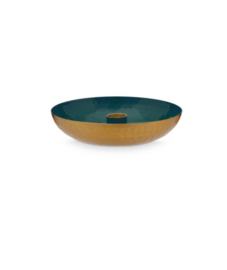 candleholder round dark green