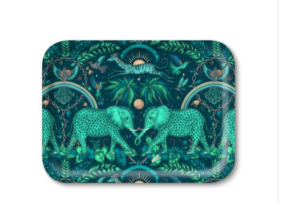 Tray Elephant green