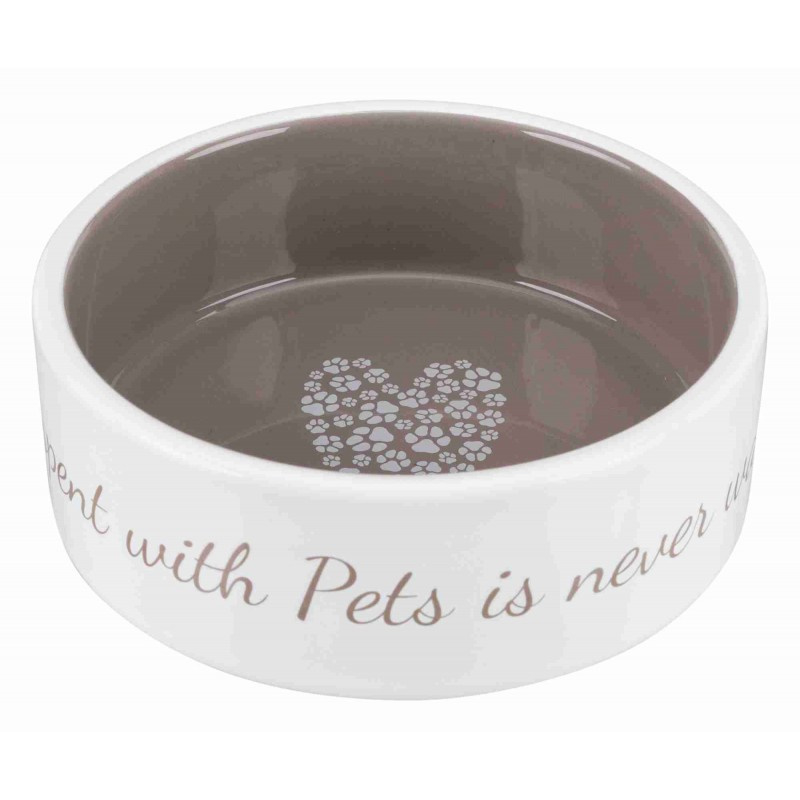 Voer/waterbak Pets Home 16cm Taupe