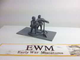 EarlyWarMiniatures | dutgun10 | 3 Dutch soldiers with spandau AA | 1:72