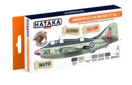 Hataka | HTK-CS113 | Modern Fleet Arm Paint Set vol.1 | Orange line