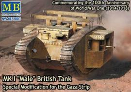 "MK I ""Male"" British Tank, Gaza Strip"