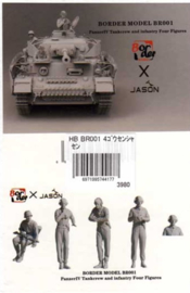 Border Model | BR001 | Panzer IV tank crew and infantry, 4 figures | 1:35