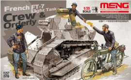 Meng | HS-005 | French FT-17 light tank crew and orderly | 1:35
