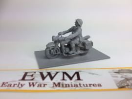 EarlyWarMiniatures | dutveh4 | Dutch BMW R12 solo motorcycle with rider | 1:72