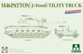 Takom | 2117X | M46 Patton & 1/4ton Utility Truck | Limited edition | 1:35