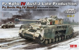 Rye Field Model | 5033 | Pz.Kpfw. IV ausf.J late, workable track links, 2in1 | 1:35