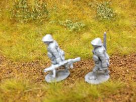 EarlyWarMiniatures | dutinf23 | 2 Dutch Lewis gunners advancing | 1:72