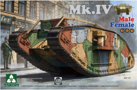 Takom | 2076 | Mk.IV male/female 2in1 ww1 battle tank | 1:35