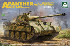 Takom | 2100 | Panther Ausf.A mid-late | w/Full interior | w/Zimmerit | 1:35