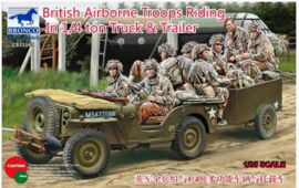Bronco | cb35169 | British Airborne Troops riding in 1/4 Ton Truck & Trailer | 1:35