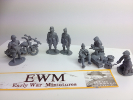 EarlyWarMiniatures | dutinf15 | Dutch army Forward HQ set | 1:72