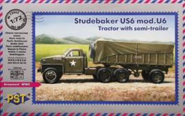 PST | 72062 | Studebaker US6 mod.U6 tractor with semi-trailer | 1:72