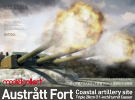 ModelCollect | UA72344 | Austratt fort, triple 28cm turret Ceasar | 1:72