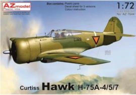 AZ | Curtiss Hawk H-75A-4/5/7 NL | AZ7644 | 1:72