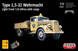 Attack | 72921 | Opel Type 2,5-32 Wehrmacht Africa with gargo | 1:72