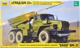 Zvezda | 3655 | Russian GRAD BM-21 Truck Mounted Multiple Rocket Launcher | 1:35