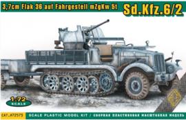 ACE | 72573 | 3,7 Flak 36 auf Fahrgestell MzgKw 5T Sd.Kfz.6/2 | 1:72
