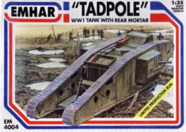 Emahr | 4004 | TADPOLE WW I Tank with rear mortar | 1:35