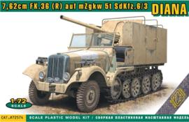 Ace | 72574 | 7.62cm FK.36 (r) auf mZgkw 5t SdKfz.6/3 Diana | 1:72
