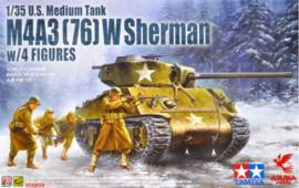 Asuka | 35-048 | M4A3 (76) W Sherman w/Figures | 1:35