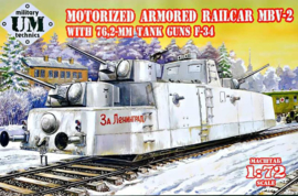 "Motorized Armored Railcar ""MBV-2"" With 76.2-mm Tank Guns ""F-34"""