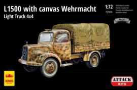 Attack | 72920 | M.B. L1500 Wehrmacht Light Truck 4x4, with canvas top. | 1:72
