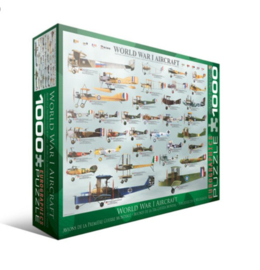 Eurographics | Puzzel 1000 | World War I Aircraft