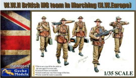 Gecko Models | 35GM0014 | WWII British MG team marching NW. Europe | 1:35