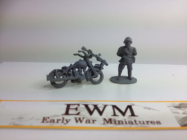 EarlyWarMiniatures | dutveh2 | Motorcycle dispatch rider | 1:72