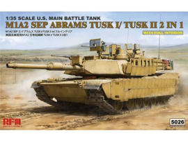 1:35 M1A2 SEP ABRAMS TUSK I/TUSK II 2 IN 1