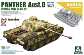 Takom | 2103 | Panther Ausf.D early/mid 2in1 | Full interior | 1:35