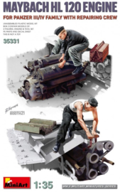MiniArt | 35331 | Mayback HL120 engine with Repair Crew | 1:35
