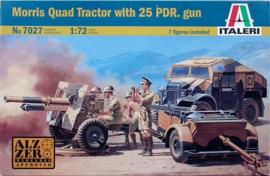 Italeri   7027   Morris Quad with 25pdr Fieldgun   1:72
