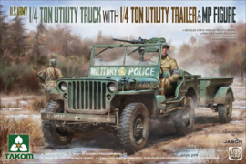 1/4 ton truck (jeep) with 1/4 ton trailer & MP figure 1:35