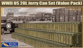 Gecko Models | 35GM0036 | WWII US 20L Jerry Can Set (value pack) | 1:35
