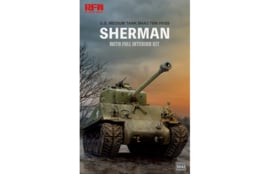 Rye Field Model |  5042 | M4A3E8 SHERMAN w/Full Interior&Workable Track Links | 1:35