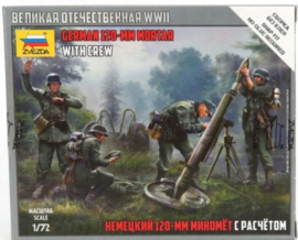 Zvezda | 6268 | German 120mm mortar and crew | 1:72