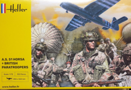 Heller | 30313 | A.S. 51 Horsa + British paratroopers | 1:72