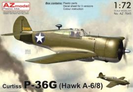 AZ | Curtiss P-36G | AZ7645 | 1:72