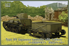 Type 94 Japanese Tankette with Trailers