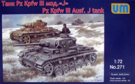 UM | 271 | Pz.Kpfw III Ausf. J | 1:72